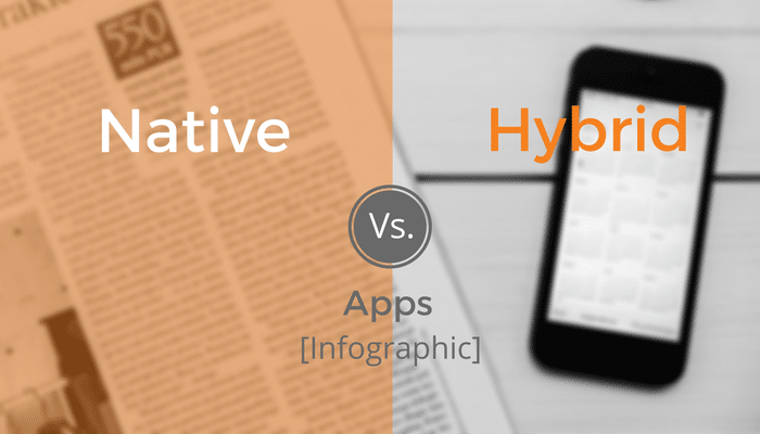 Native vs hybrid apps infographic