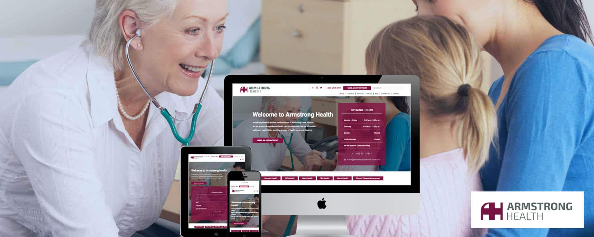 Armstrong Health Clinic website design