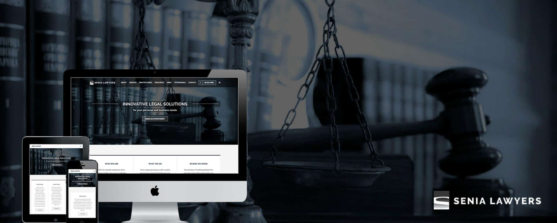 Senia Lawyers website design