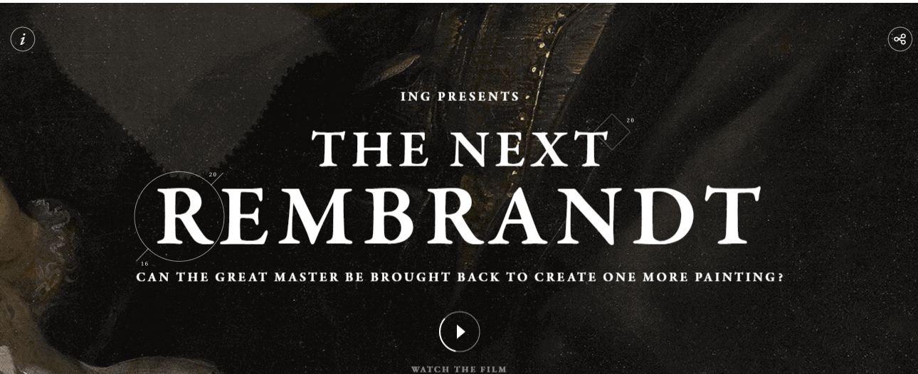 The Next Rembrandt - Dark Aesthetics with Serif Typefaces