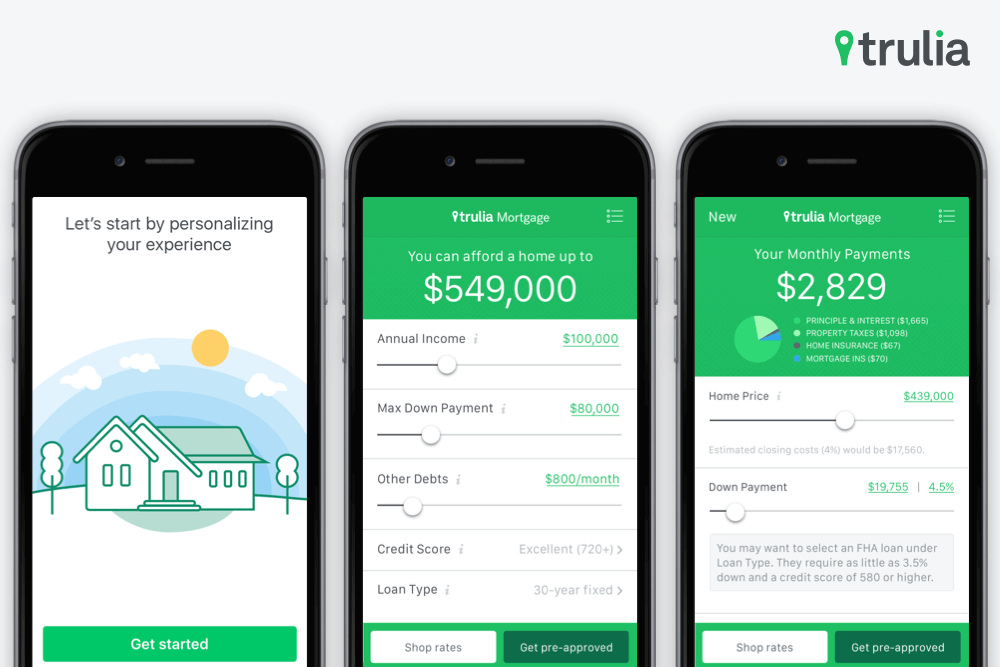 Trulia Mortgage Feature