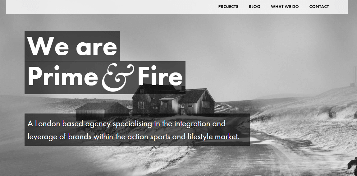 Bold Typography by Prime & Fire
