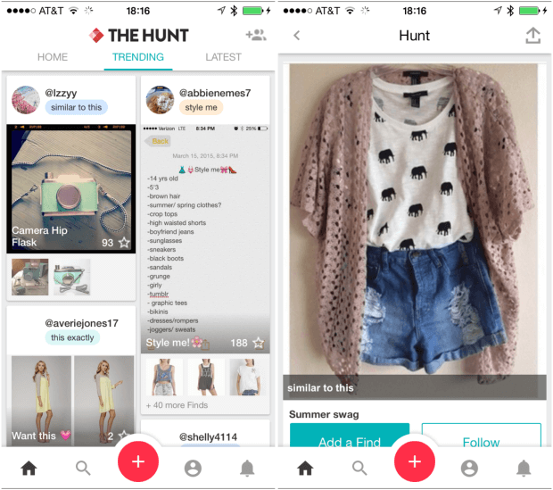 How Hunt Fashion App Works