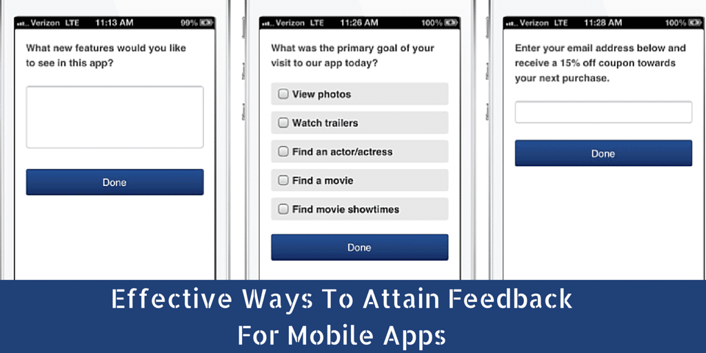 How to Attain Feedback for Mobile Apps