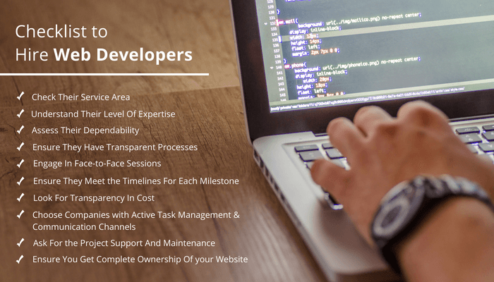 Checklist to hire web developers in Australia