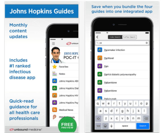 Johns Hopkins ABX, HIV, Diabetes and Psychiatry Guides