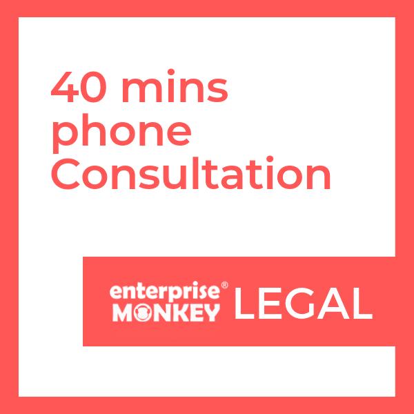 40 mins phone consultation