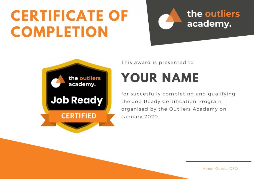 Orange Green Geometric Triangles Appreciation Certificate